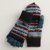 Blue Fairisle Glittens