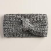 Gray Sequin Head Warmer