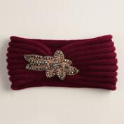 Wine Embellished Sequin Head Warmer