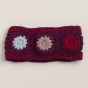 Purple Wool Head  Warmer