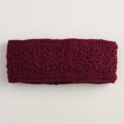 Wine Crochet Wool Head Warmer