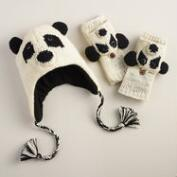 Wool Panda Bear Gloves or Hat