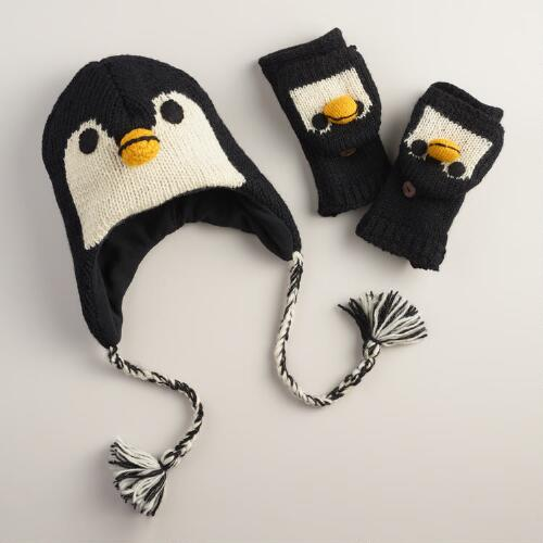 Wool Penguin Gloves or Hat