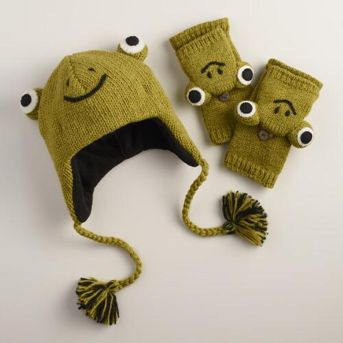 Wool Frog Gloves or Hat