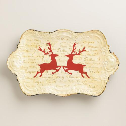 Stag Holiday Tray