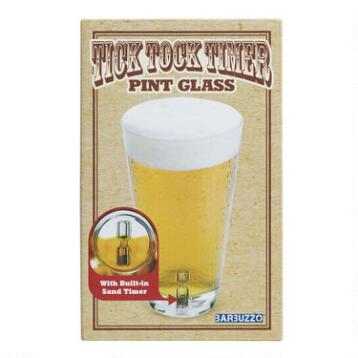 Tick Tock Timer Pint Glass