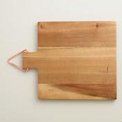 Acacia Wood Cutting Board with Copper Hanger