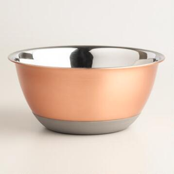 2 Quart Copper Nonskid Mixing Bowl
