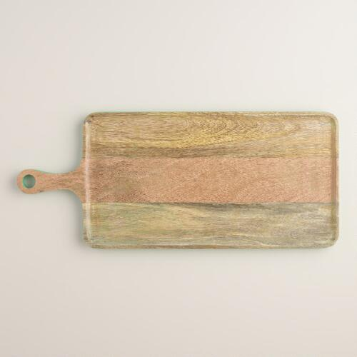 Green Havana Wood Paddle Cutting Board