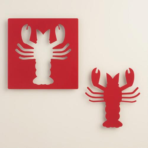 Metal Lobster Trivets 2 Pack