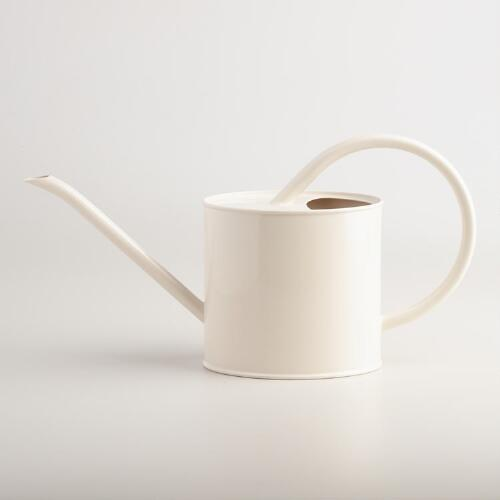 Ivory Metal Watering Can