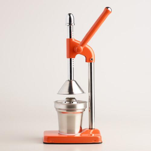 Orange Standing Manual Citrus Juicer