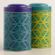Butterfly Geo Tea Tins Set of 2