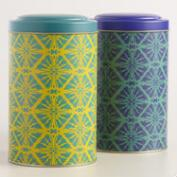 Large Butterfly Geo Tea Tins Set of 2