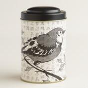Bird on Newsprint Tea Tin Set of 4