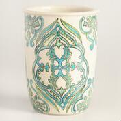 Pacifica Hand Painted Ceramic Utensil Holder