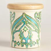 Pacifica Hand Painted Ceramic Salt Cellar