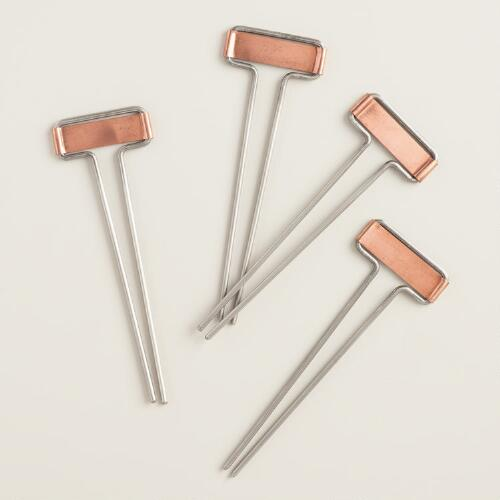 Copper Garden Stakes 4 Pack