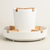 White Spinning Utensil Caddy