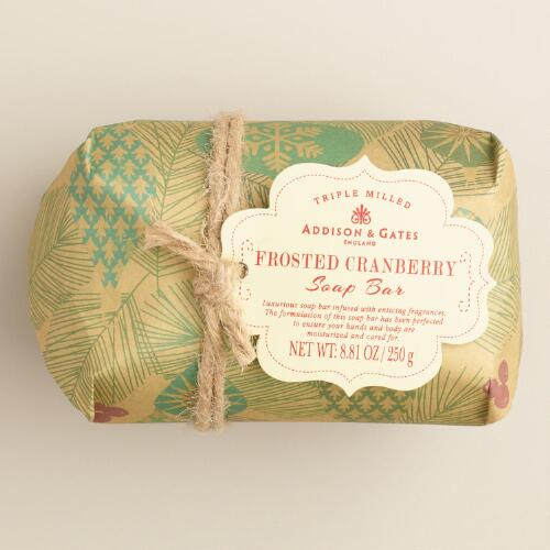 A&G Kraft Paper Frosted Cranberry Bar Soap