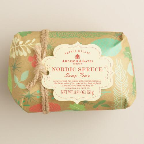 A&G Nordic Spruce Kraft Paper Bar Soap