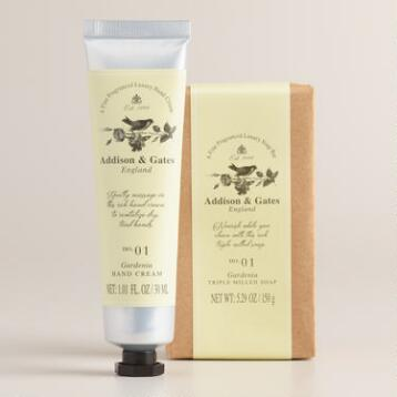 A&G Gardenia Bar Soap and Hand Cream 2-Piece Set