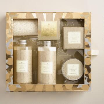 A&G Metallic Coconut Milk 5-Piece Bath Gift Set