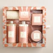 A&G Metallic Rose Petal 5-Piece Bath Gift Set