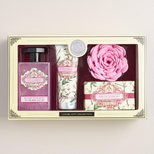 AAA White Jasmine 4-Piece Bath Gift Set