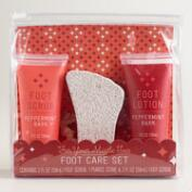 Peppermint Bark 3-Piece Foot Care Set