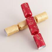Medium Red and Gold Holly Crackers, 8-Count