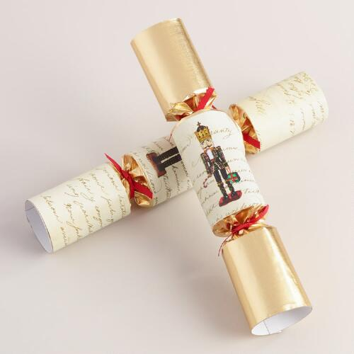 Large Ivory Nutcracker Crackers, 6-Count