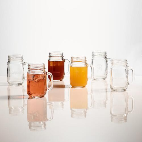 Monogram Mason Jars, Set of 4