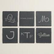 Monogram Slate Coasters, 4 Pack
