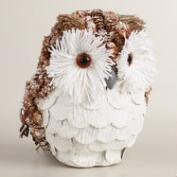 Natural Fiber and Pinecone Owl