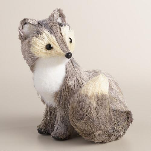 Gray Natural Fiber Fox