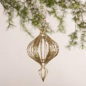 Silver and Gold Metal Onion Finials, Set of 2