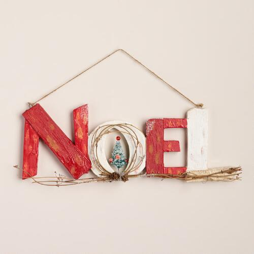 Noel Sign with Tree Wall Decor