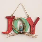 Joy Sign with Tree Wall Decor