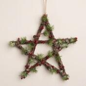 Berry and Pinecone Star Wall Decor
