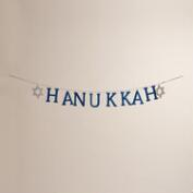 Glittered Wood Hanukkah Garland