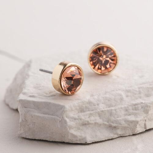 Light Topaz Stud Earrings