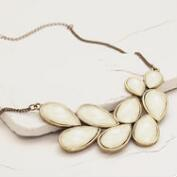 Cream Bead Statement Necklace
