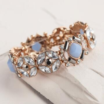 Blue Stone Stretch Bracelet