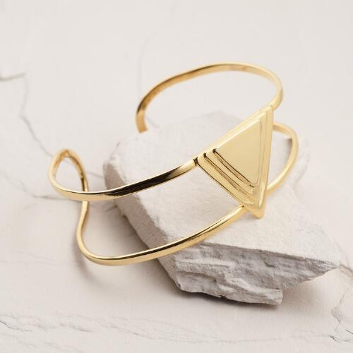 Gold Triangle Cuff Bracelet