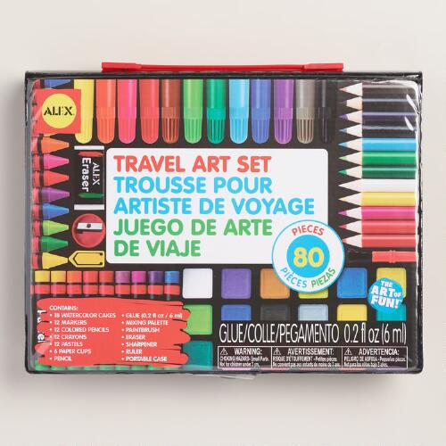 Travel Art 80 Piece Set
