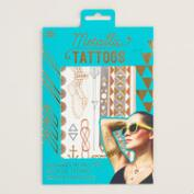 Metallic Temporary Tattoos, 2 Pack