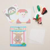 Santa and Reindeer Cross Stitch Kits, Set of 2