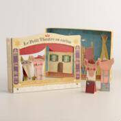 Londji Pig Finger Puppets and Theater Set, 5 Piece