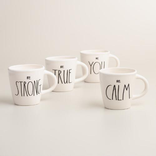 Sentiments Mugs, Set of 4